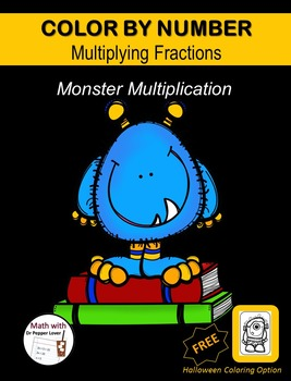 Color by Number Fraction Pages: Monster Multiplication