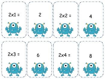 Monster Multiplication Go Fish/ Memory Mega Pack