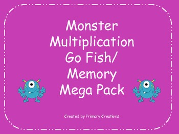 Monster Multiplication Go Fish/ Memory Mega Pack