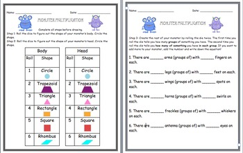 Monster Multiplication (Groups of Strategy) 3.OA.a.1