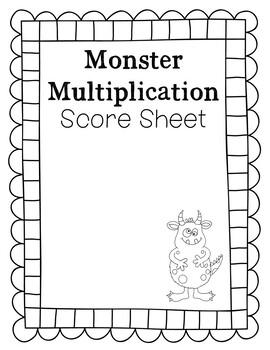 Monster Multiplication Halloween Themed Activity