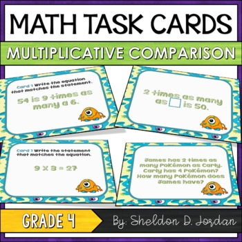Monster Multiplication - Multiplicative Comparison Task Cards