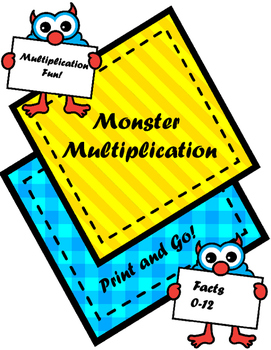 Monster Multiplication Printables