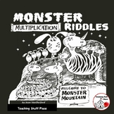 MONSTER Theme  Multiplication Problems  Gr. 3-4 MATH  Color  NO PREP RIDDLES