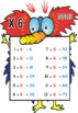 Monster Multiplication Tables: Posters, Student Cards & Bookmarks