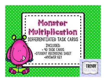 Monster Multiplication Task Cards