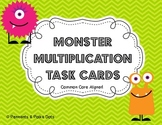 Monster Multiplication Task Cards - Common Core Aligned