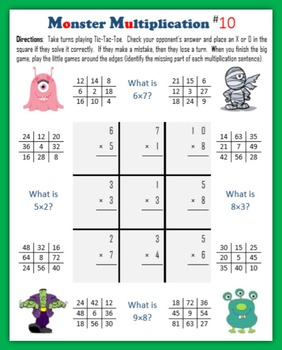 Monster Multiplication (Tic-Tac-Toe)