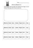 Monster Multiplication Worksheet