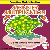 MONSTER MATH Multiplication ... FUN COLOR by CODE ... Early Finishers Gr 3 Math