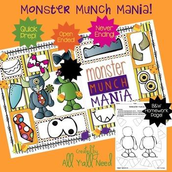 Monster Munch Mania: An Open-Ended Halloween Game for SLPs!