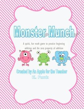 Monster Munch Math Game- Addition