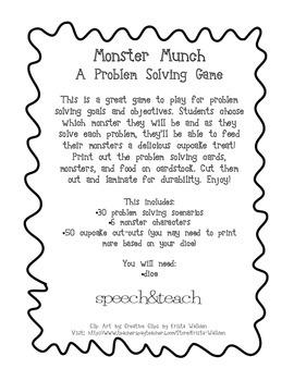 Monster Munch Problem Solving