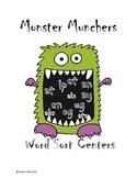 Monster Munchers Word Sort Centers