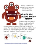 Monster Munchies ABC Initial Sound Match