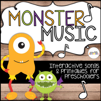 Monster Music: Interactive Printables & 3 Songs