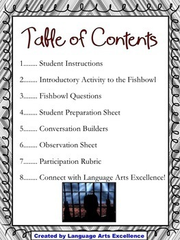 Monster (Myers) Socratic Seminar Lesson Plan and Materials