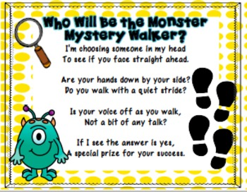 "Monster ""Mystery Walker"" Classroom Management Kit"