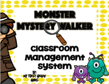 "Monster ""Mystery Walker"" Classroom Management Kit"
