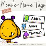 Monster Name Labels - Locker Tub Labels