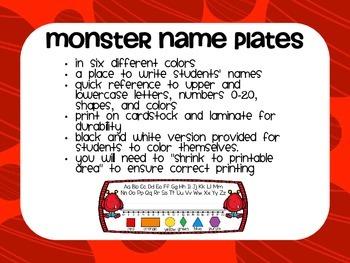 Monster Name Plates