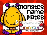 Monster Name Plates