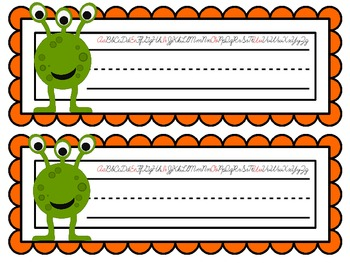 Monster Nameplates with the Cursive Alphabet ~ 7 Different Versions