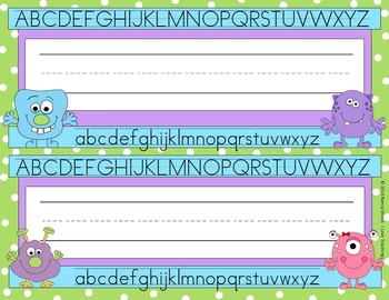 Monster Name Tags!