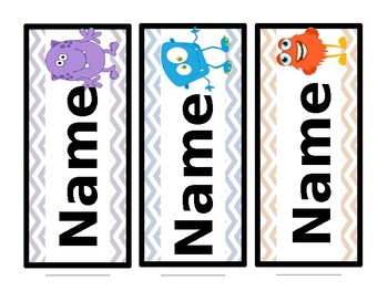 Monster Name Tags