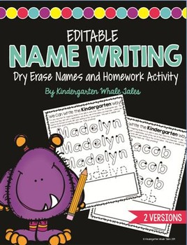 Monster Name Writing:  Writing the Right Way DISTANCE LEARNING