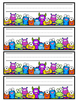 Monster Nametags