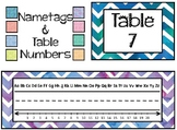 Monster Chevron Table Tags and Table Numbers