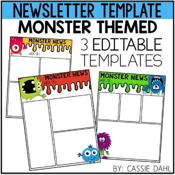 Monster Classroom Newsletter