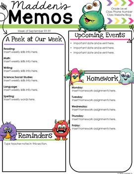 Monster Newsletter Template