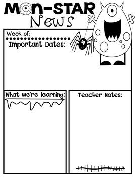 Monster Newsletters (Editable)
