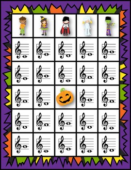 Note Naming Bingo - Halloween Monster Edition