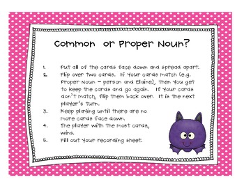 Monster Noun Activities