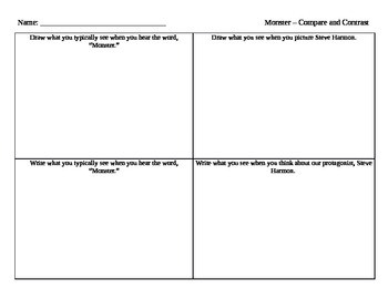Monster Novel - Compare and Contrast