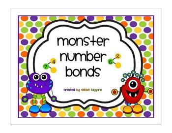 Monster Number Bonds Flip Chart