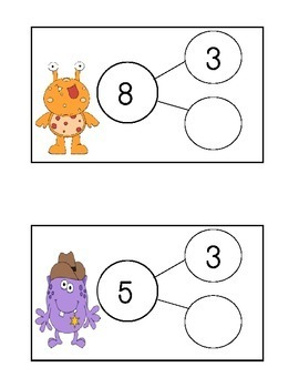 Monster Number Bonds - Math Write the Room