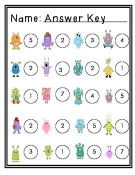 Monster Number Bonds - Math Write the Room