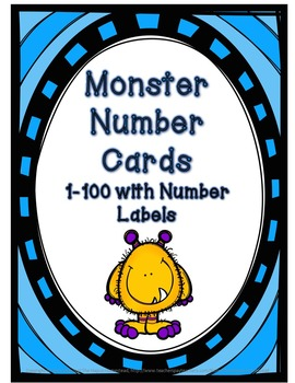 Number Posters 1-100 - Monster Theme