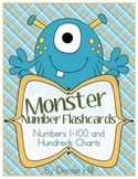Monster Number Flash Cards
