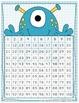 Monster Number Flash Cards