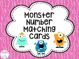 Monster Number Matching Cards