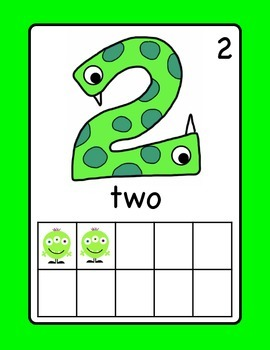 Number Posters with Ten Frames - Monster Theme (English)