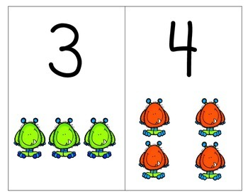 Monster Number & Quantity Cards