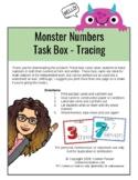 Monster Number Tracing Task Cards 0-10