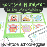 Number Words Center Activity And Worksheets