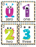 Monster Number Words Write the Room Activity